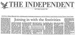 Review, 1991, The Independent