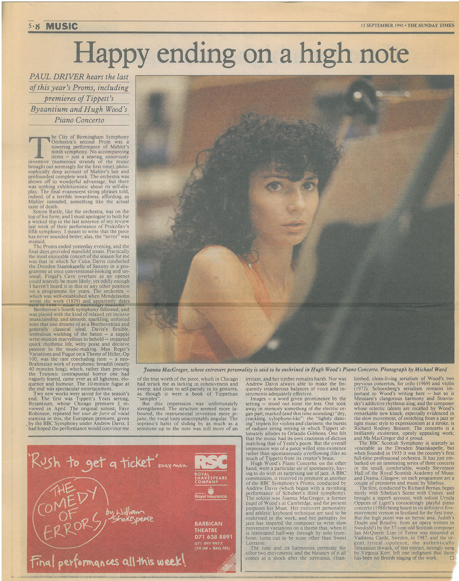 Review, 1991, The Sunday Times