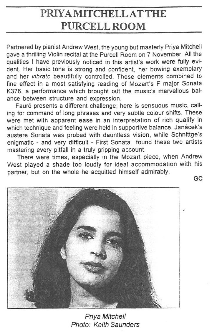 Review, 1996, Musical Opinion