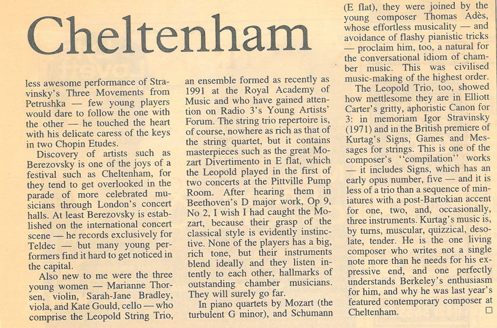 Review, 1996, Sunday Times