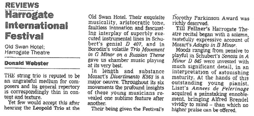 Review, 1996, Yorkshire Post