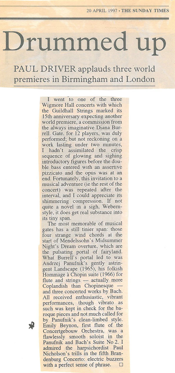 Review, 1997, The Sunday Times