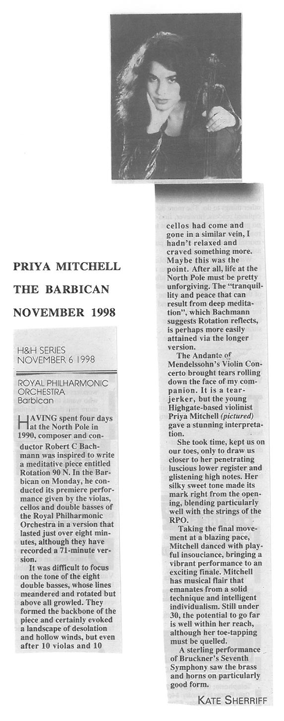 Review, 1998, The Barbican