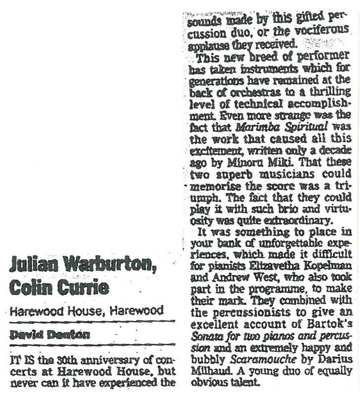 Review, 1998, Yorkshire Post