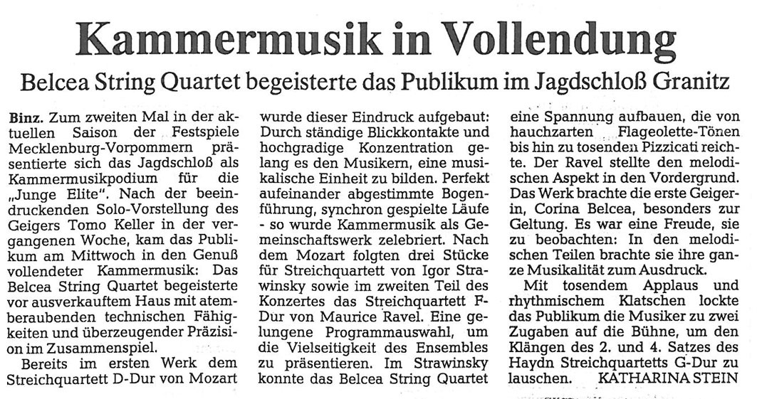 Review, 1999, Ostsee Zeitung