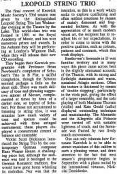 Review, 2000, Keswick Reminder