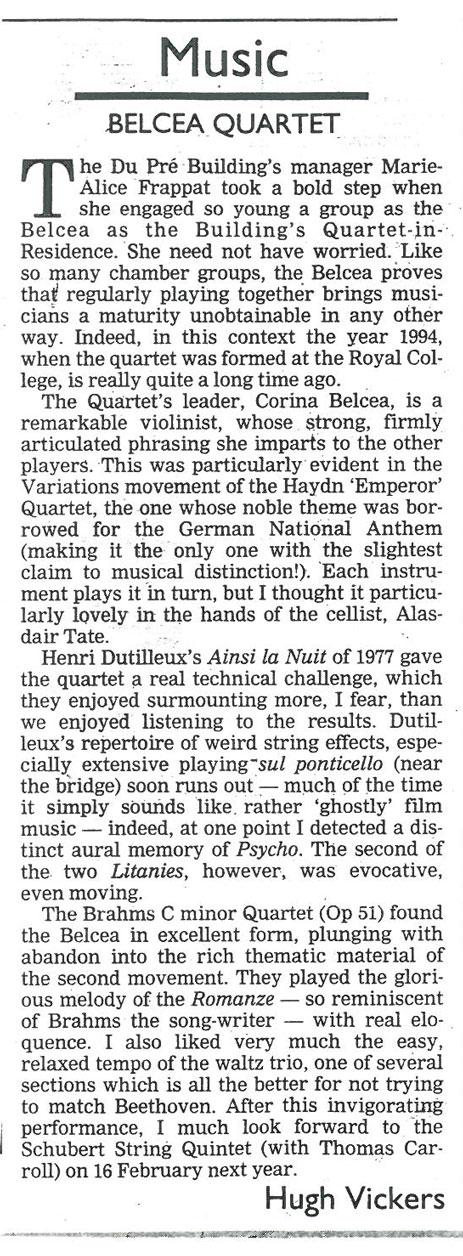 Review, 2000, Oxford