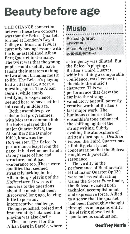 Review, 2000, The Daily Telegraph