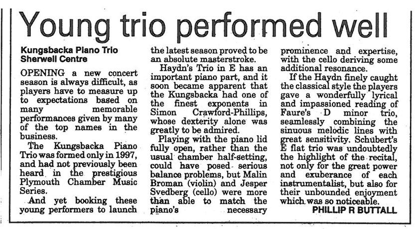 Review, 2001, Evening Herald
