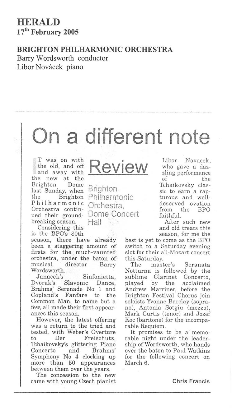 Review, 2005, Herald