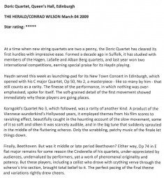 Review, 2009, The Herald
