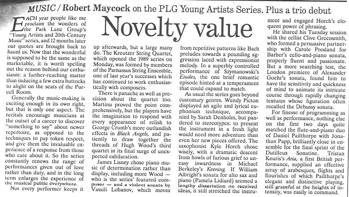 Review, Robert Maycock