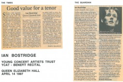 Reviews, 1997, The Times and The Guardian