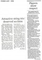 Reviews, 1998, Bedales School