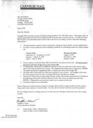 Ticketing Letter, 1999, Carnegie Hall