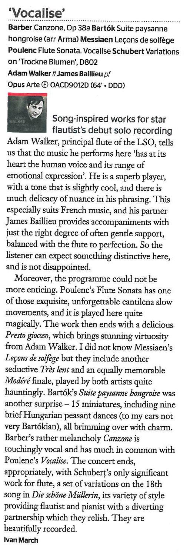 CD Review, 2013, Gramophone