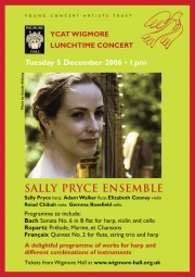 Flyer, 2006, Wigmore Hall