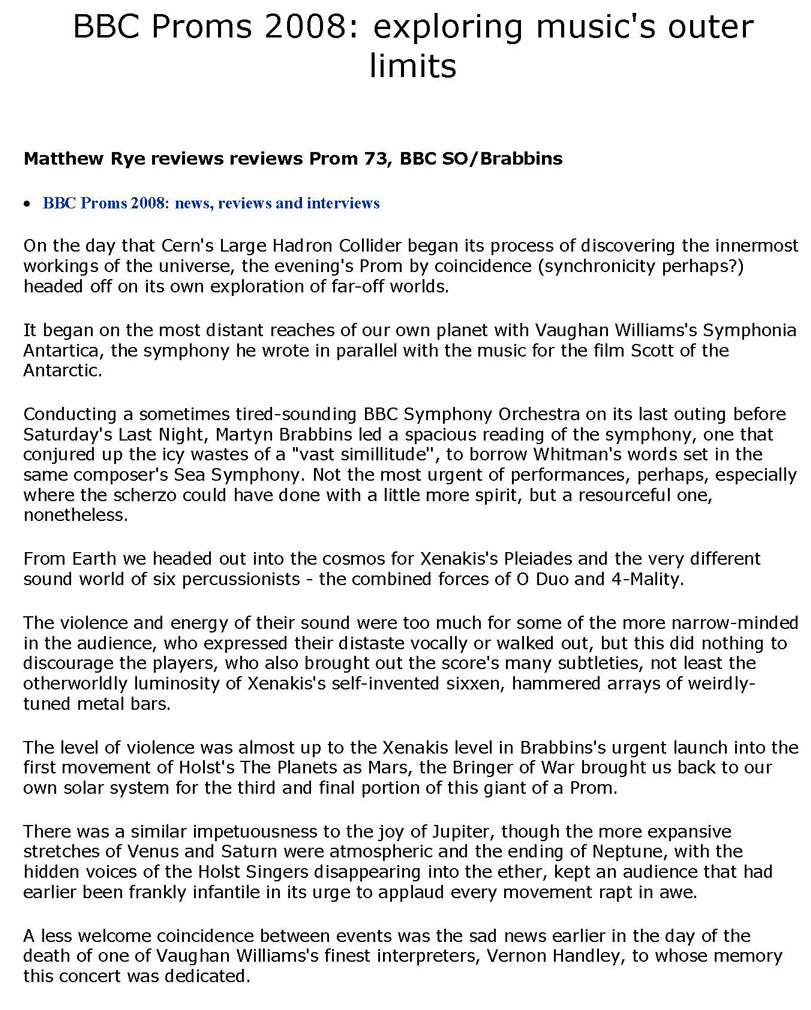 Review, 2008, The Daily Telegraph