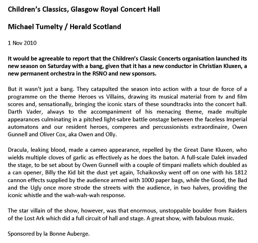 Review, 2010, Herald Scotland