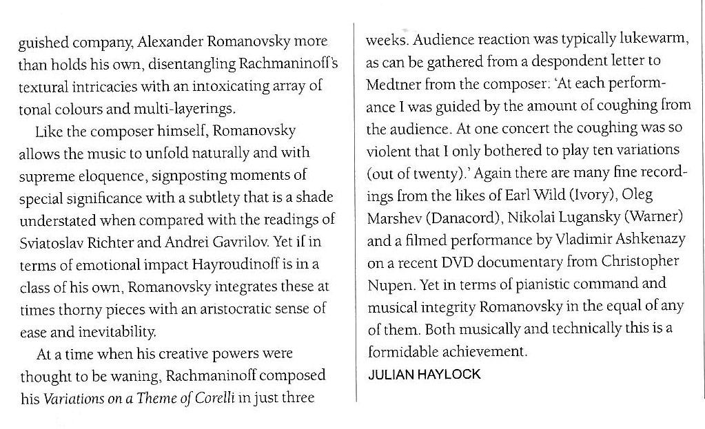 Review, 2010, International Pianist Magazine