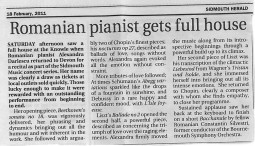 Review, 2011, Sidmouth Herald