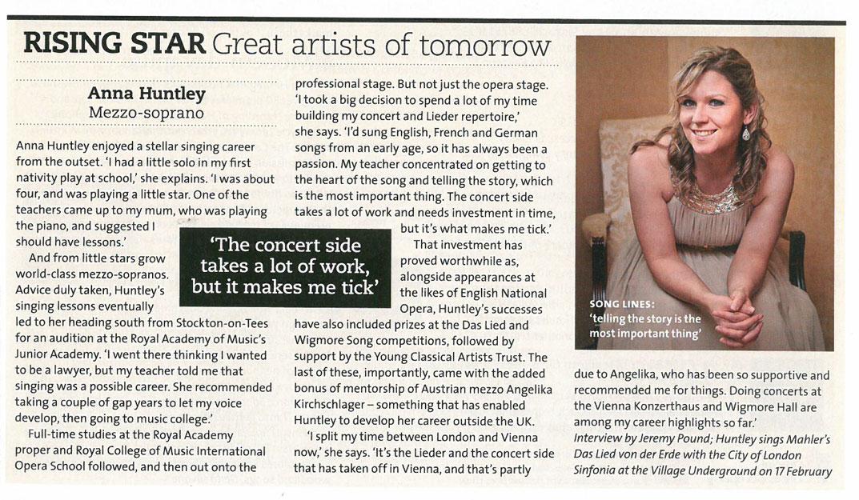 Feature, 2016, BBC Music Magazine