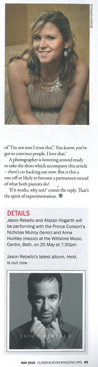 Preview, 2016, Classical Music Magazine