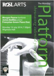 Programme, 2014, Wigmore Hall