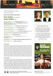 Programme, 2016, Wigmore Hall Song Series