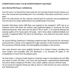 Review, 2014, Lichfield Live