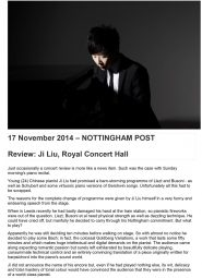 Review, 2014, Nottingham Post