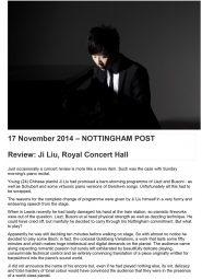 Review, 2014, Nottingham Post