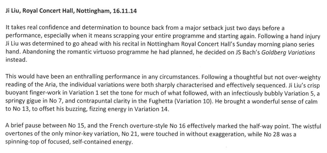 Review, 2014, Nottingham