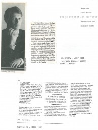 CD Reviews, 1991, Scriabin Piano Classics and Classic CD