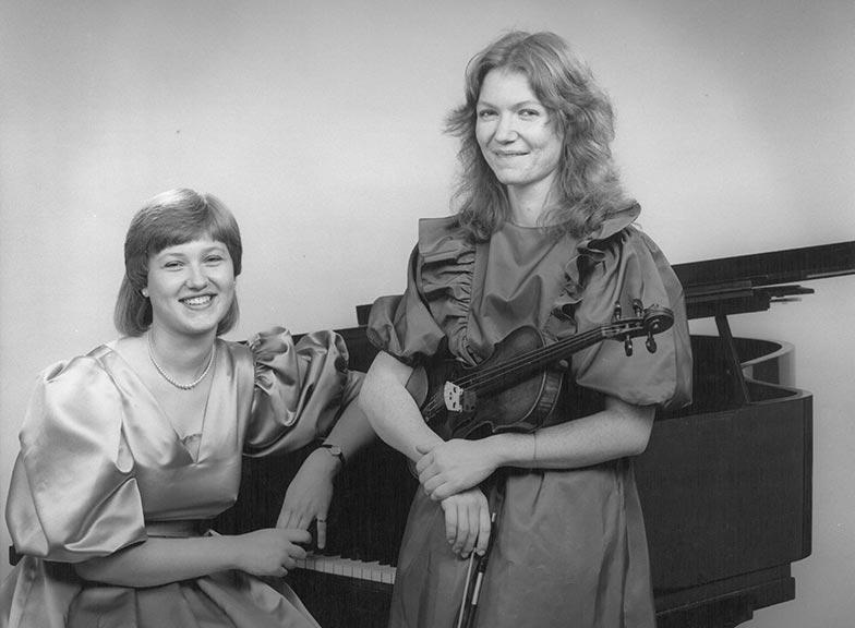 Clare McFarlane and Amanda Hurton