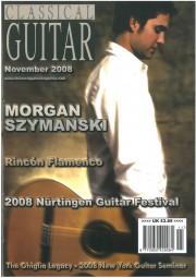 Cover, 2008, Classical Guitar Magazine