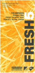 Leaflet, 2002, Purcell Room