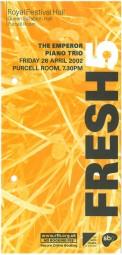 Leaflet, 2002, Purcell Room