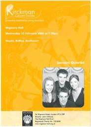 Programme, 2006, Kirckman Concert Society
