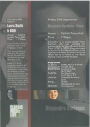 Programme, 2010, Classic Music Live