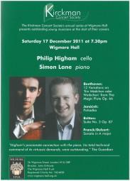 Programme, 2011, Kirckman Concert Society