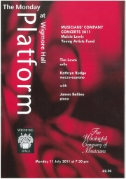 Programme, 2011, Worshipful Company of Musicians