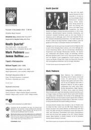 Programme, 2013, Wigmore Hall with Heath Quartet