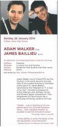 Programme, 2014, Kelson Music Society with Adam Walker
