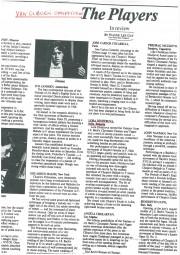 Review, 1985, Van Cliburn Competition