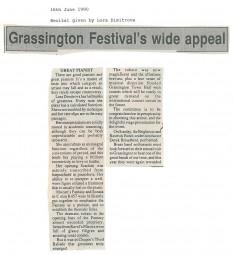 Review, 1990, Grassington Festival