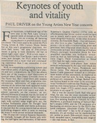 Review, 1992, Purcell Room