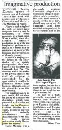 Review, 1997, English Touring Opera