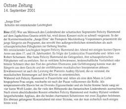 Review, 2001, Ostsee Zeitung