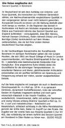 Review, 2007, Rhein Main Zeitung